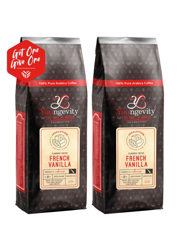 Javalution Club French Vanilla Flavored Coffee Limited Edition—Indonesia Ground (12oz) [QTY: 2 | Get One, Give One FREE]