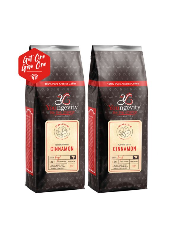 Javalution Club Cinnamon Flavored Coffee Limited Edition—Brazil Ground (12oz) [QTY: 2 | Get One, Give One FREE]